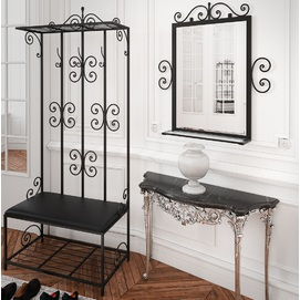 Комплект прихожая и зеркало ТАУЭР черная Tenero
