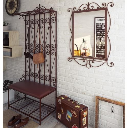 Комплект прихожая и зеркало ВИНДЗОР коричневая Tenero