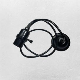 Лампа шнур 38001-1 черная Thexata