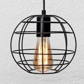 Лампа подвесная PR2175-1 BK черная Thexata