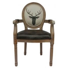 Стул с подлокотниками ART Deer 5KS24505 коричневый Prestol
