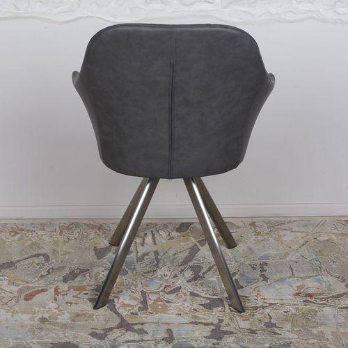 Кресло поворотное Almeria серое кожзам Kolin