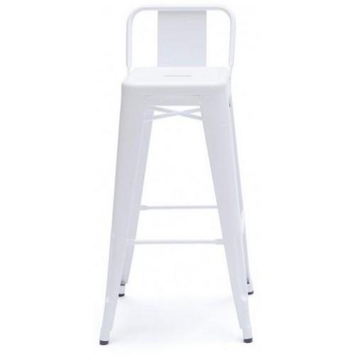 Кресло полубарное Tolix MC-011Р белое Primel
