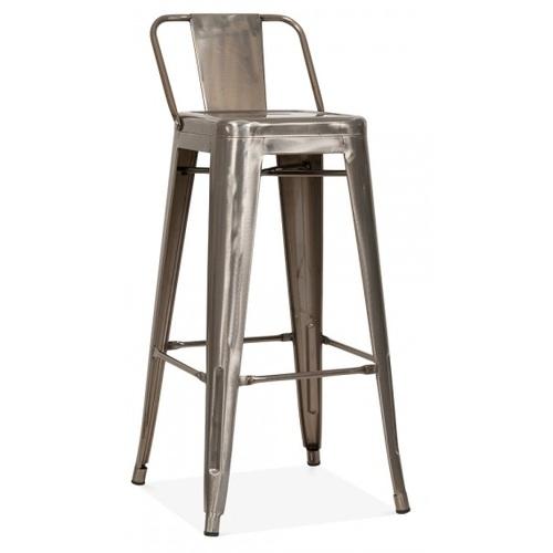 Кресло полубарное Tolix MC-011Р сильвер Primel