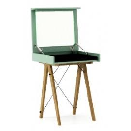 Стол туалетный MINI зеленый ноги дуб Minko