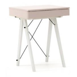 Стол туалетный MINI розовый ноги белые Minko