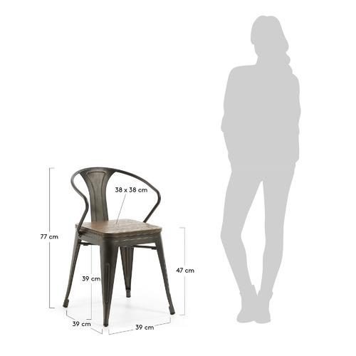 Кресло MALIBU CC0577R02 графит Laforma 2018