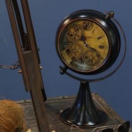 Часы настольные Gear globe черные FUNHOME