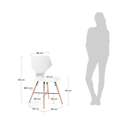 Стул WITHEY CC0499S05 белый Laforma 2018