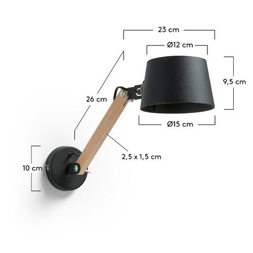 Бра AA1299R01 - MOVE черное Laforma 2018