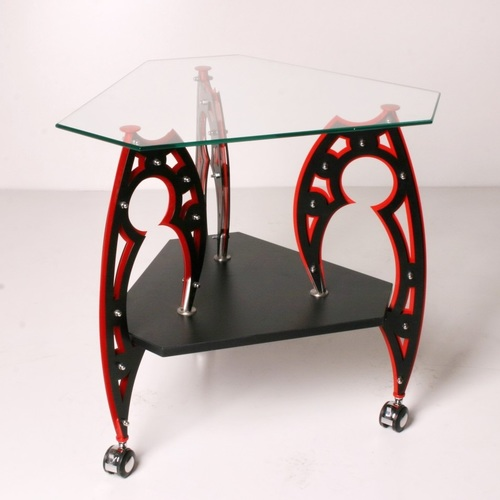 Стол журнальный Vector Tatoo черно+красный БЗЫК