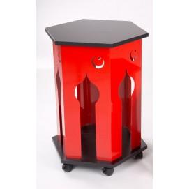 Стол кофейный Турецкий на колесах красный БЗЫК