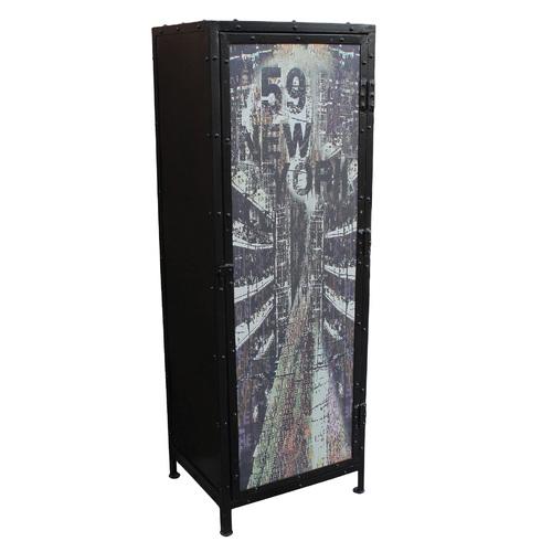 Шкаф закрытый STEEL 06310-11 черная Sit Moebel