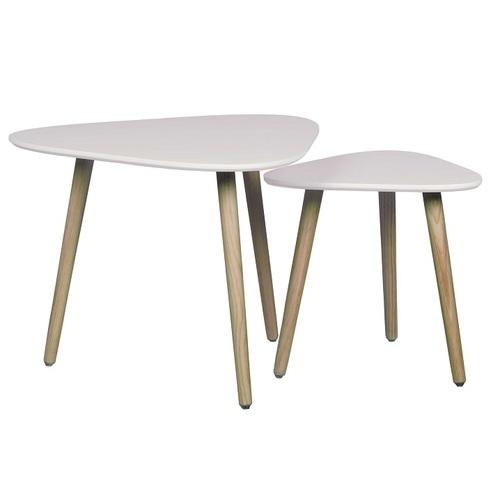Набор столиков 2шт MACAO 12192-01 белый Sit Moebel