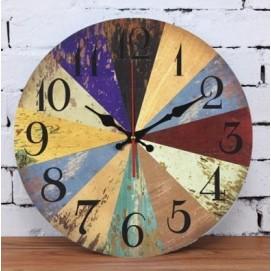 Часы Шапито 35 см цветные Cloc