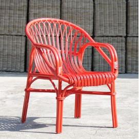 Кресло RATTAN 05316-25 красное Sit Moebel
