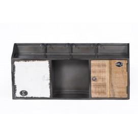 Шкаф навесной RETRO 03028-95 черно-белый Sit Moebel