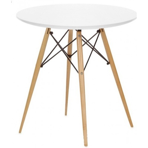 Стол обеденный круглый 60 см Тауэр Вуд белый Mebelmodern