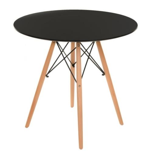 Стол обеденный круглый 60 см Тауэр Вуд черный Mebelmodern