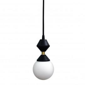 Лампа подвесная Dome lamp черно-белая 25 см 4844 Pikart