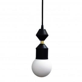 Лампа подвесная Dome lamp черно-белая 26 см 4844 Pikart