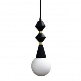 Лампа подвесная Dome lamp черно-белая 33 см 4844 Pikart