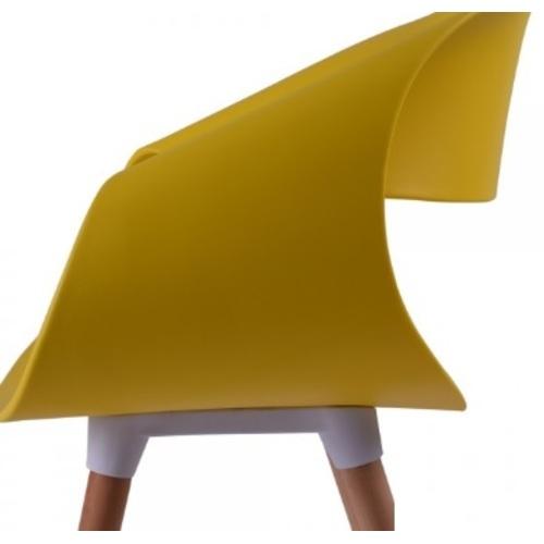 Кресло Берта желтый ноги дерево Mebelmodern