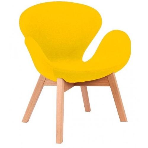 Кресло Сван Вуд Армз желтое Mebelmodern
