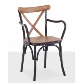 Кресло TONET METAL ARMS / TNT02 черное Caris