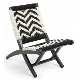Кресло HEANE CC0592J60 черно-белое Laforma 2018