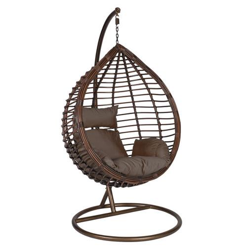 Кресло подвесное DROPLET 28019 коричневое Garden4You