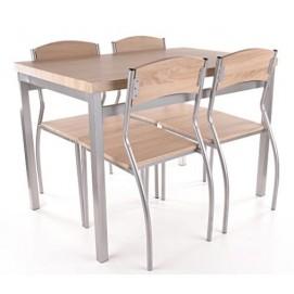Комплект Astro стол+4 стула натуральный Signal 2018