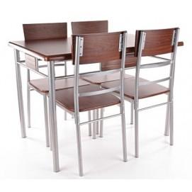 Комплект Play стол+4 стула орех Signal 2018