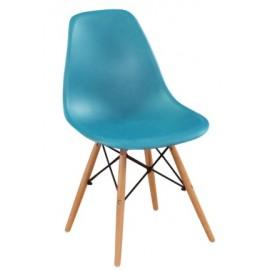Стул Eams chair М-05 синий ноги дерево Verde
