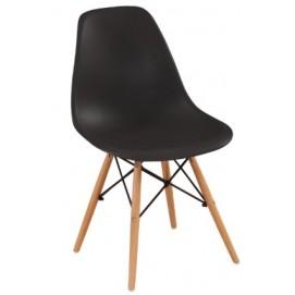 Стул Eams chair М-05 черный ноги дерево Verde