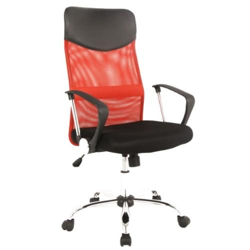 Кресло офисное Q-025 черное красное Signal 2018