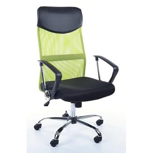 Кресло офисное Q-025 черное зеленый Signal 2018