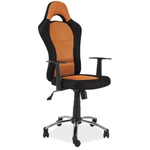Кресло офисное Q-039 черное оранжевое Signal 2018