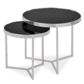 Набор столиков Delia II серебро Signal