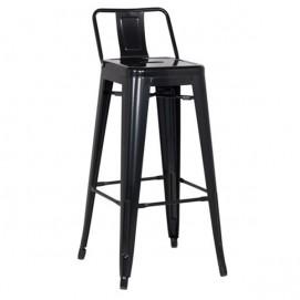 Кресло полубарное Tolix MC-011Р черное Primel без спинки