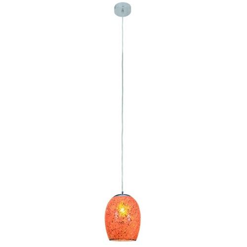 Лампа подвесная CRACKLE 8069OR оранжевая Searchlightelectric