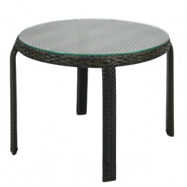 Стол кофейный Wicker (13356) темно-коричневый Evelek