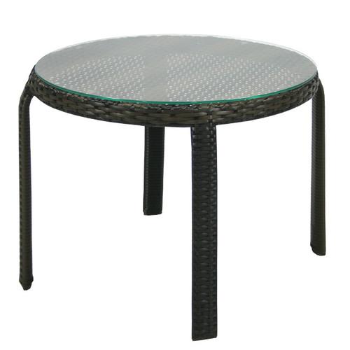 Стол кофейный Wicker 13356 темно-коричневый Garden4You