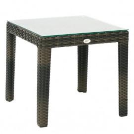 Стол кофейный Wicker 11809 темно-коричневый Garden4You