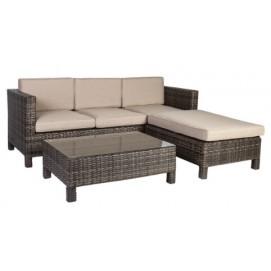Угловой диван Queens (12908) коричневый Garden4You