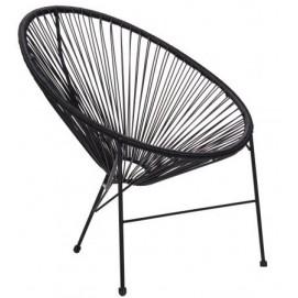 Кресло Acapulco черное 519709 Famm