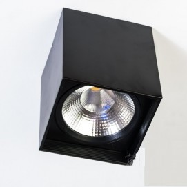 Накладной светодиодный точечный светильник 30W DB-SS225-COB-30W-B черный Diasha