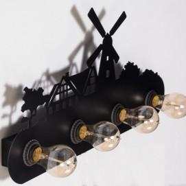 Светильник настенный W8002 черный Diasha
