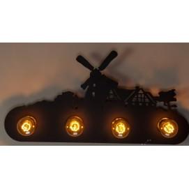 Светильник настенный 185-4 черный Diasha