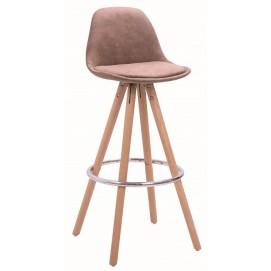 Стул барный Lacio fabric/wood коричневый Primel